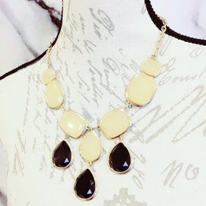 Yellow and Black Statement Necklace